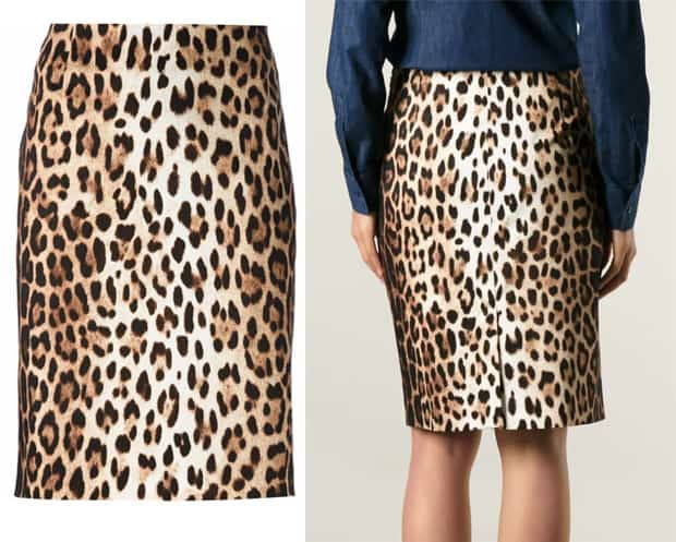 Moschino Cheap & Chic Leopard Print Pencil Skirt