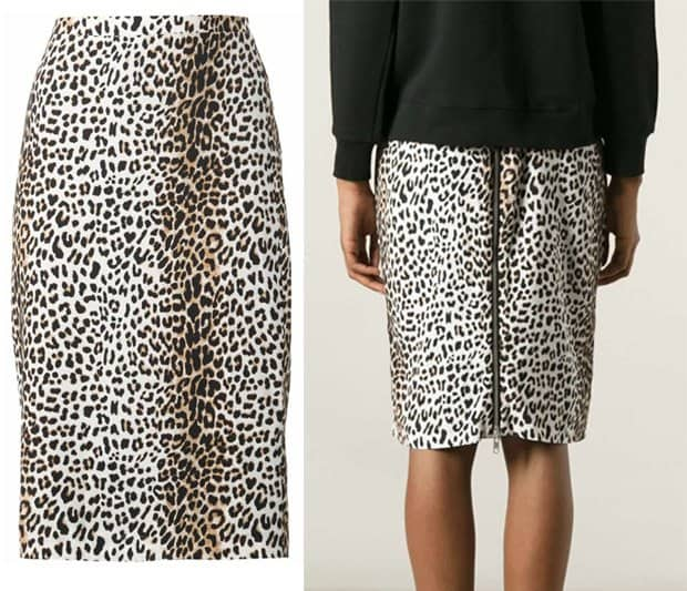 Rika Leopard Print Pencil Skirt