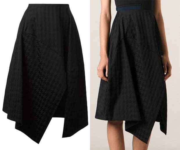 Stella McCartney Houndstooth Patterned Wrap Skirt
