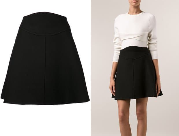 Carven Braided A line Skirt