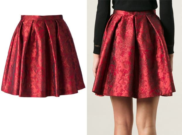 Charlott Baroque Pleated Mini Skirt