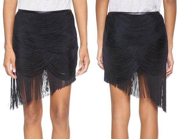 Haute Hippie Trapped Fringe Skirt