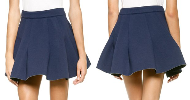 JOA Pleated Neoprene Skirt