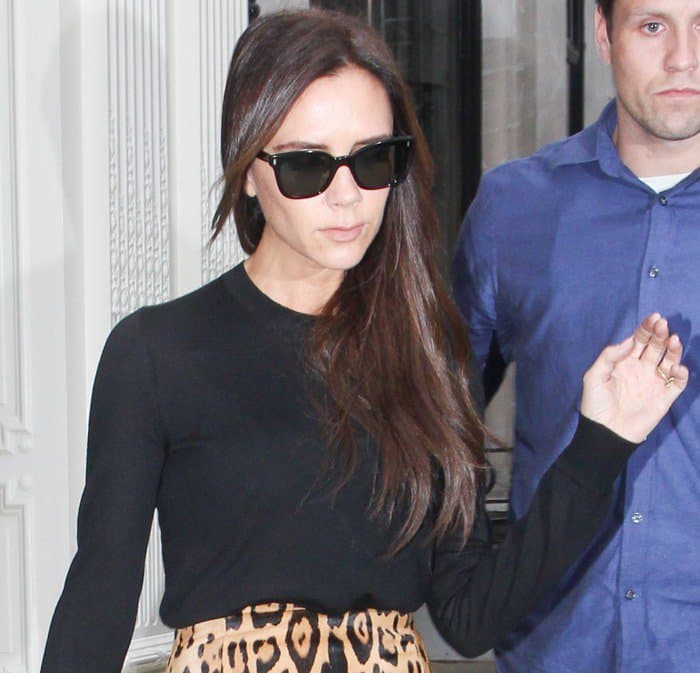 Victoria Beckham visits her eponymous retail store on Dover Street