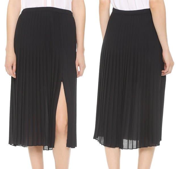 Vince Pleated Skirt