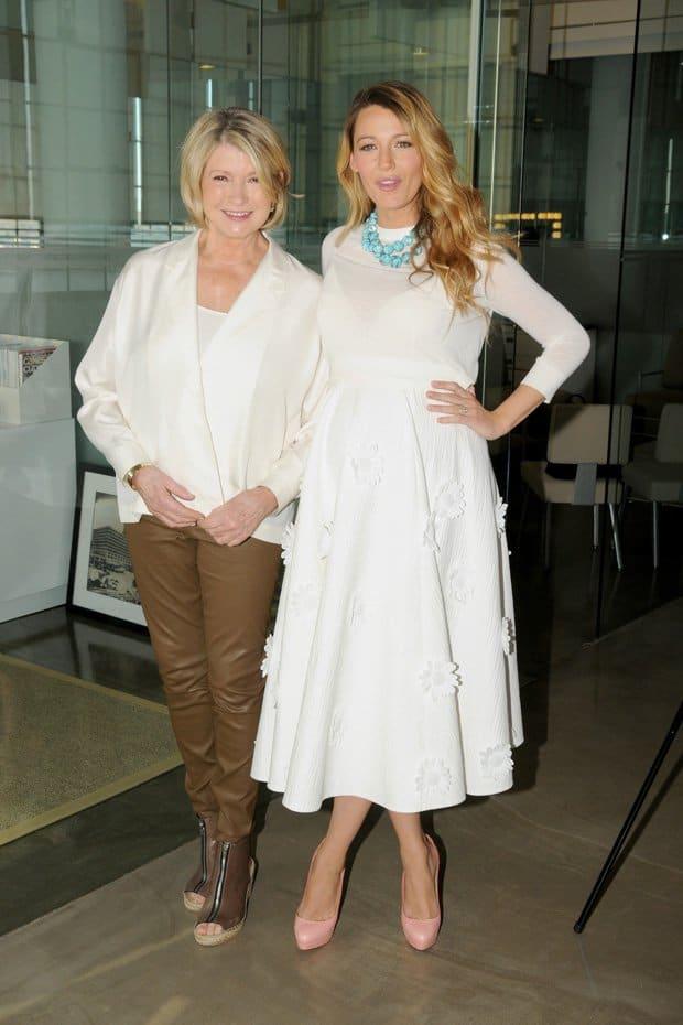 Martha Stewart and Blake Lively attend the Martha Stewart American Made Summit