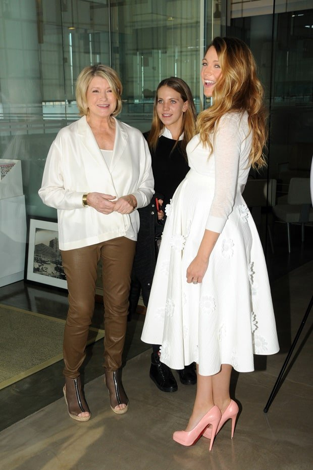 2014 American Made Summit: Martha Stewart one on one with Blake Lively in New York on November 8, 2014