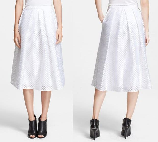 Burberry London Full Fil Coupe Skirt