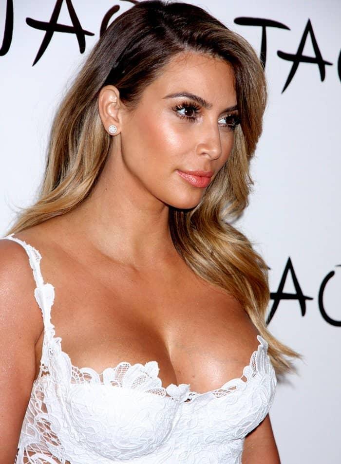 Kim Kardashian at her birthday celebration at the Tao Nightclub at The Venetian in Las Vegas on October 26, 2014