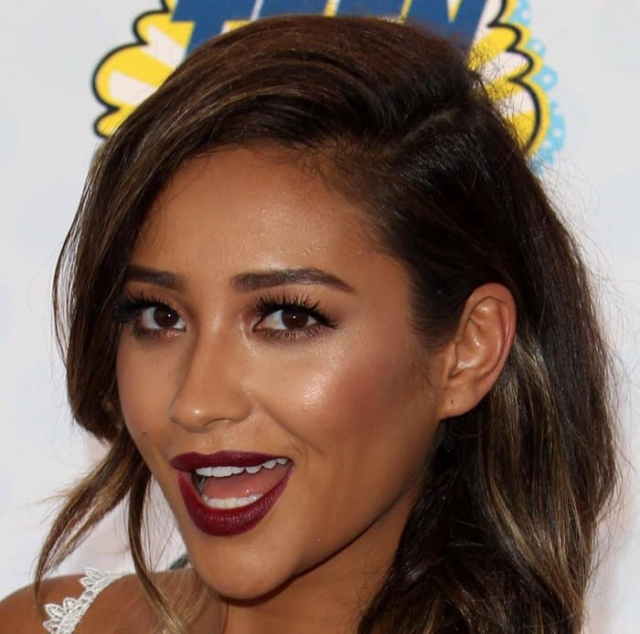 Shay Mitchell at the 2014 Teen Choice Awards held at the Shrine Auditorium in Los Angeles on August 10, 2014