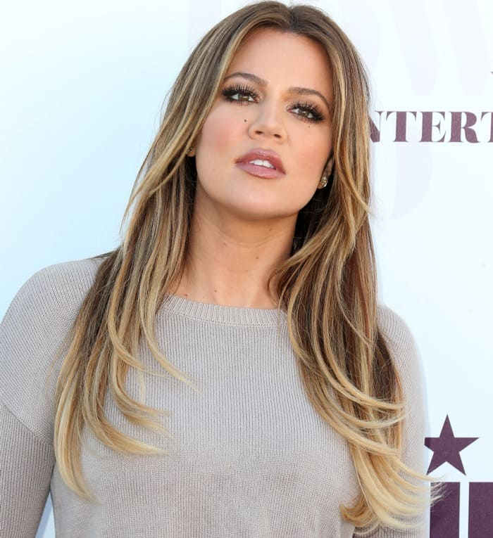 Khloe Kardashian at the 2014 Hollywood Reporter Women in Entertainment Breakfast held at Milk Studios in Los Angeles on December 10, 2014