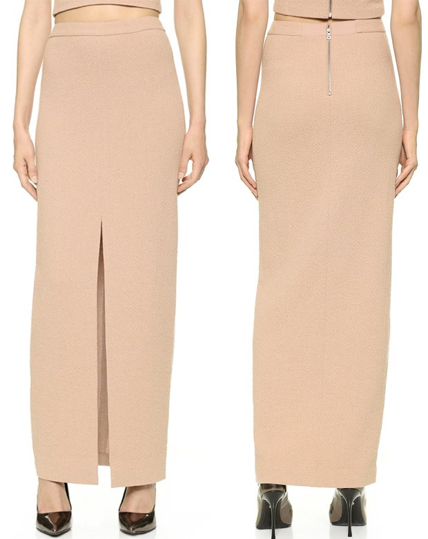alice + olivia Abby Slit Maxi Skirt