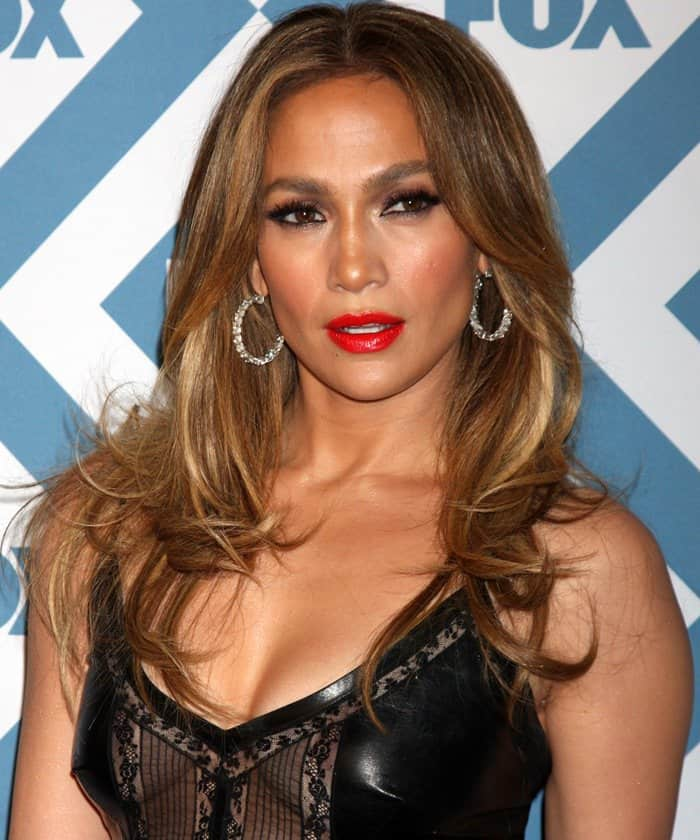 Jennifer Lopez at the 2014 Fox All-Star Party held at the Langham Hotel in Pasadena on January 13, 2014