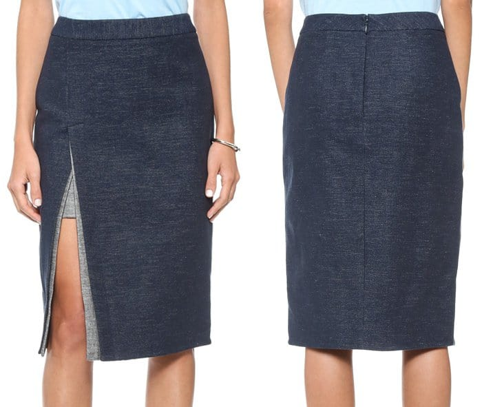 BCBGMAXAZRIA Grayce Skirt with Slit