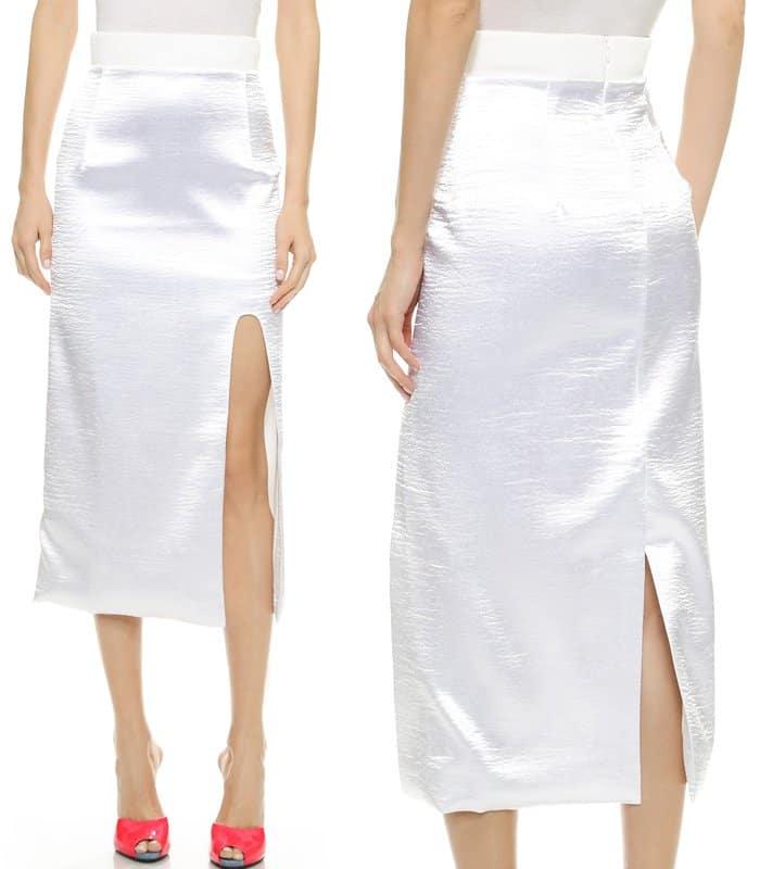 Karla Spetic Longer Midi Hi Split Skirt