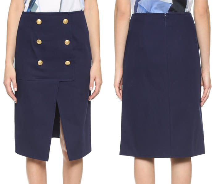 Kenzo A Line Skirt with Buttons