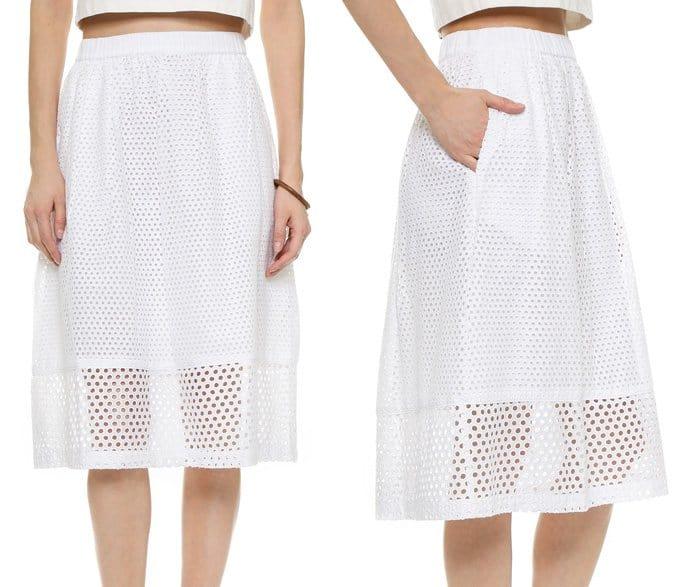 Madewell Trellis Eyelet Skirt