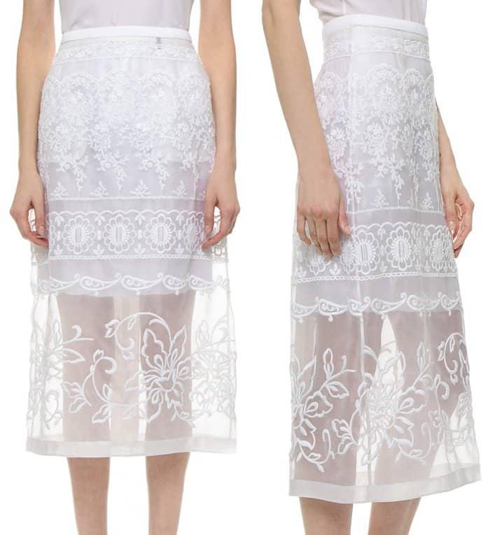 No 21 Straight Midi Skirt