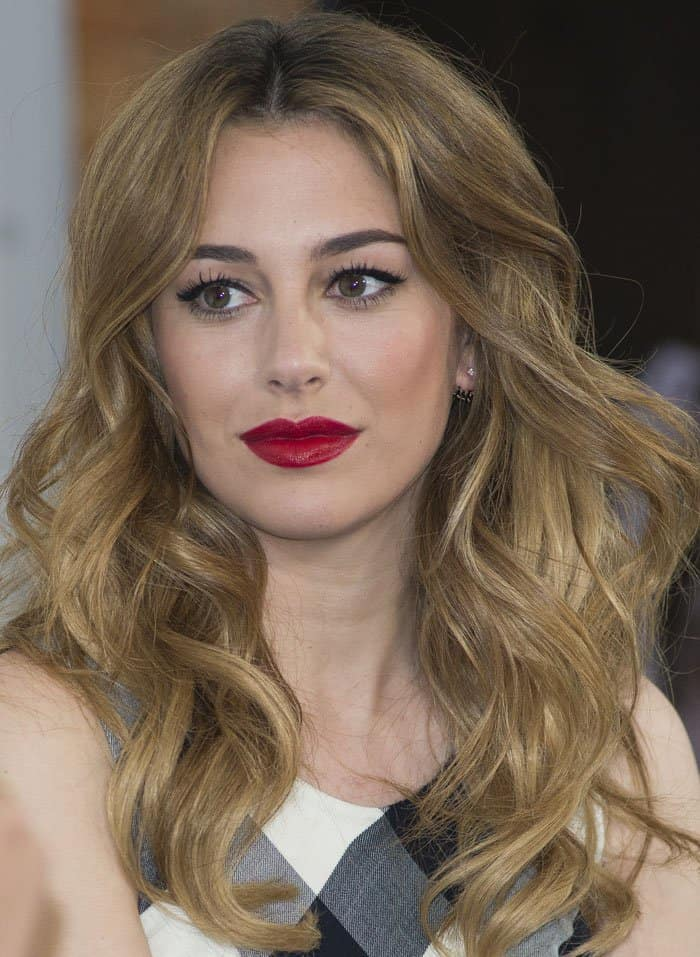 Blanca Suarez presents the new beauty brand GHB in Madrid, Spain on April 22, 2015