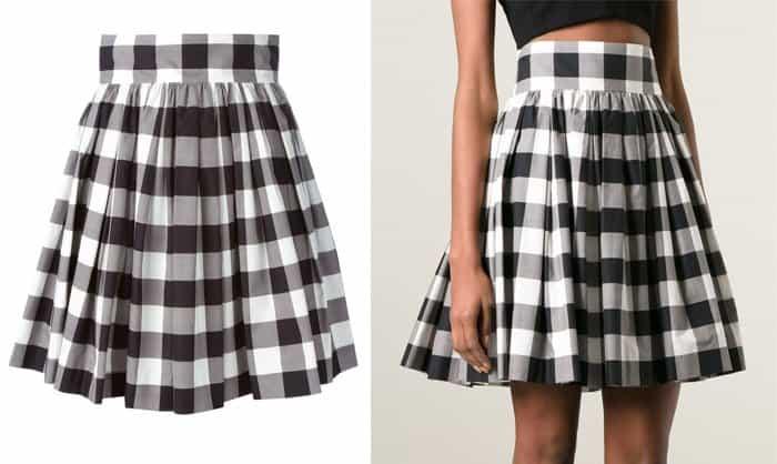 Dolce & Gabbana Checked Skirt