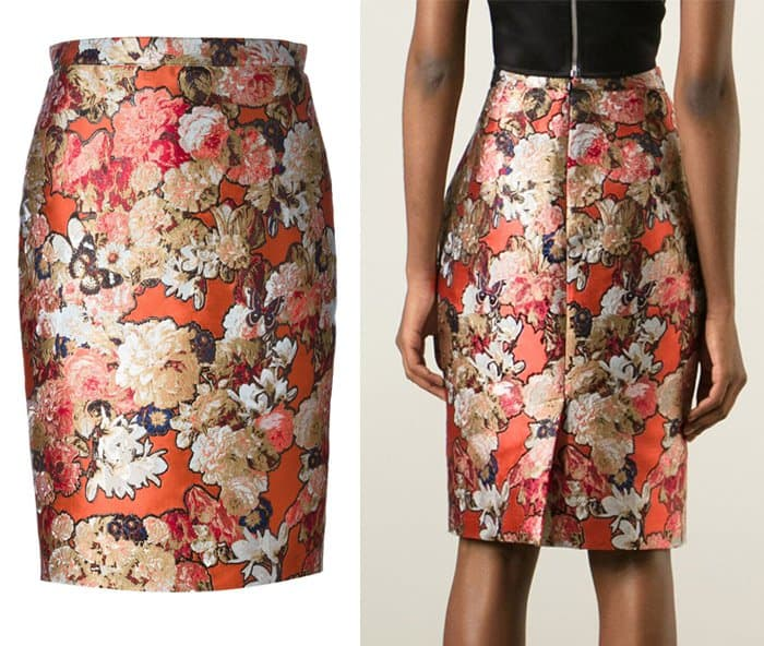 Givenchy Floral Jacquard Skirt