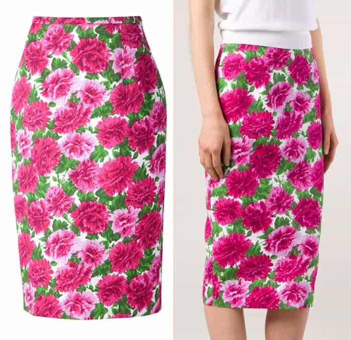 Michael Kors Floral Print Skirt