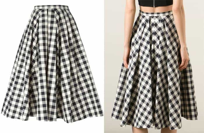 Michael Kors Gingham Check Skirt