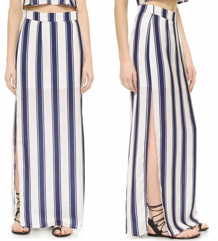 Capulet High Waist Side Slit Skirt