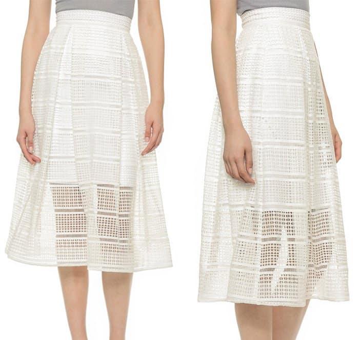 Nicholas Diamond Lace Ball Skirt