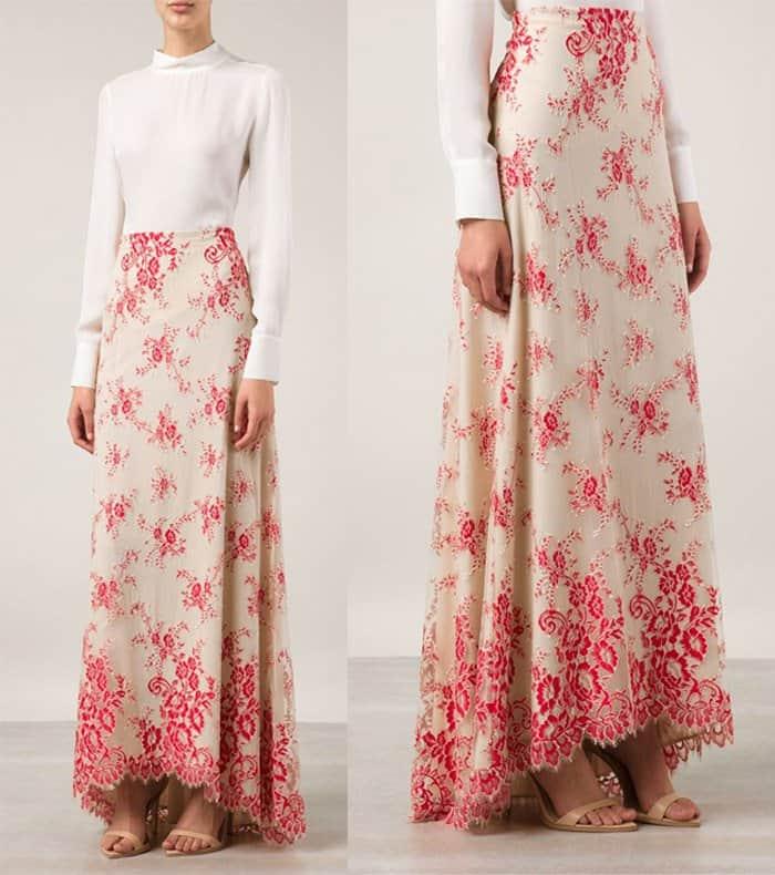 alice + olivia Kira Lace Skirt