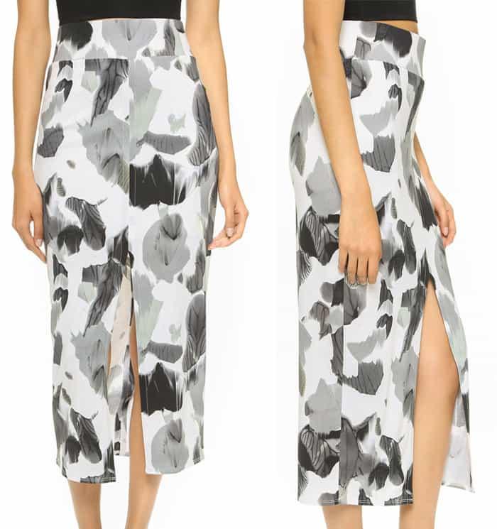 Helmut Lang Crypsis Print Skirt