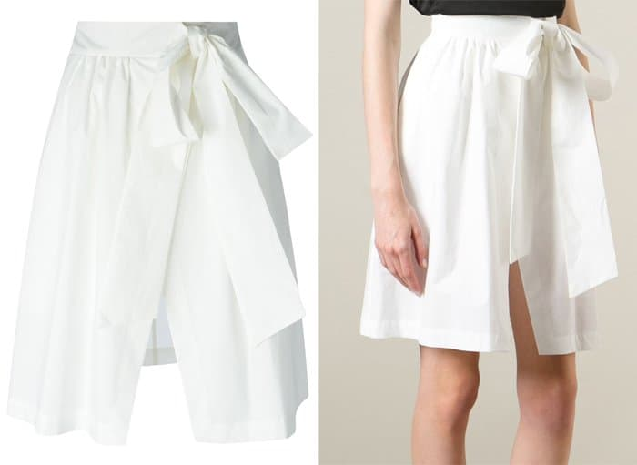 MSGM Wrapped Bow Skirt