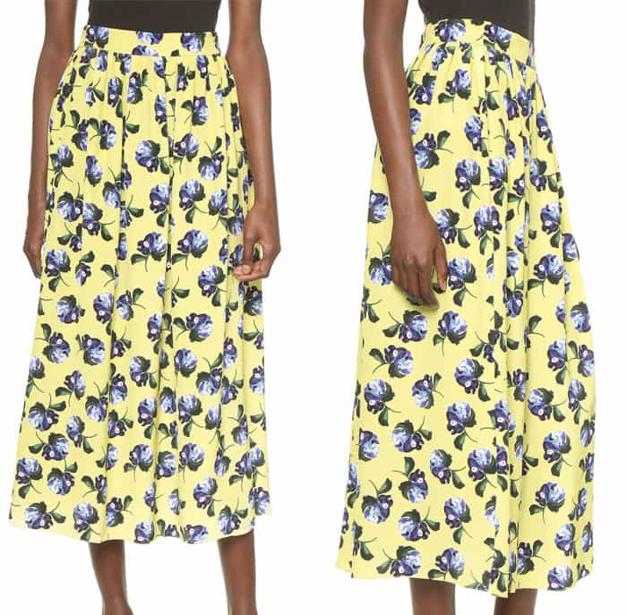 Mother of Pearl Romilly Gathered Midi Skirt