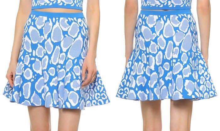 Ohne Titel Reversible Leopard Skirt
