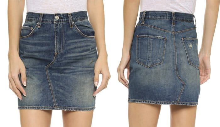 Rag & Bone Jean Miniskirt