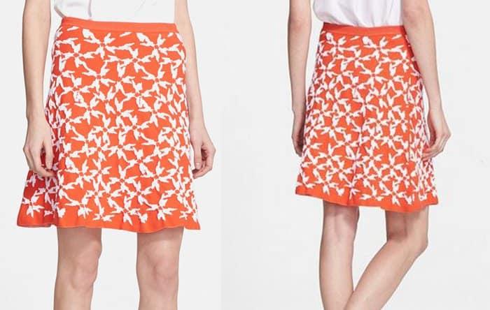 Tanya Taylor Maia Jacquard Knit Skirt