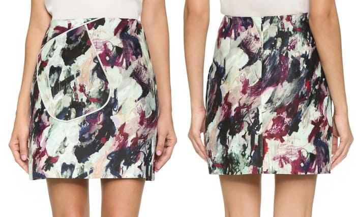 Carven Printed Skirt
