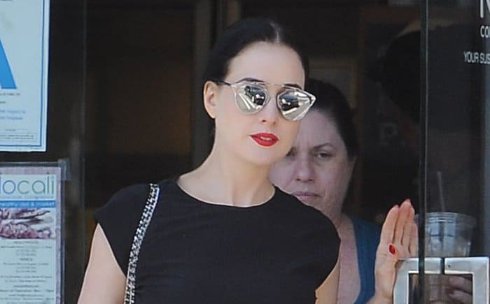 Dita Von Teese spotted shopping at Locali in Hollywood on August 8, 2015