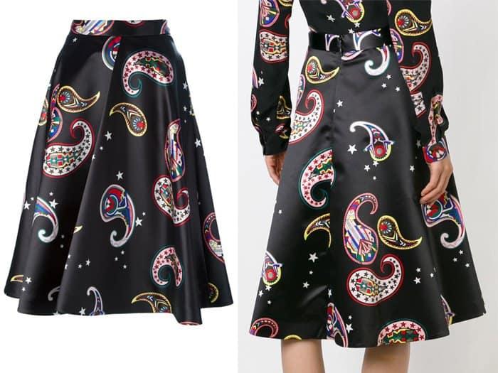 MSGM Paisley A line Skirt