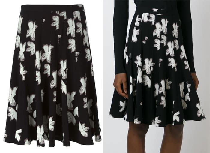 Marc by Marc Jacobs Irving Painted Flower Print Skirt