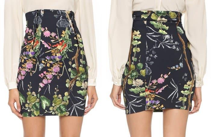 Philosophy di Lorenzo Serafini Floral Miniskirt
