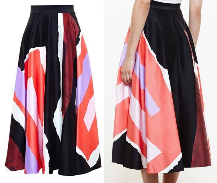 Roksanda Printed A line Skirt