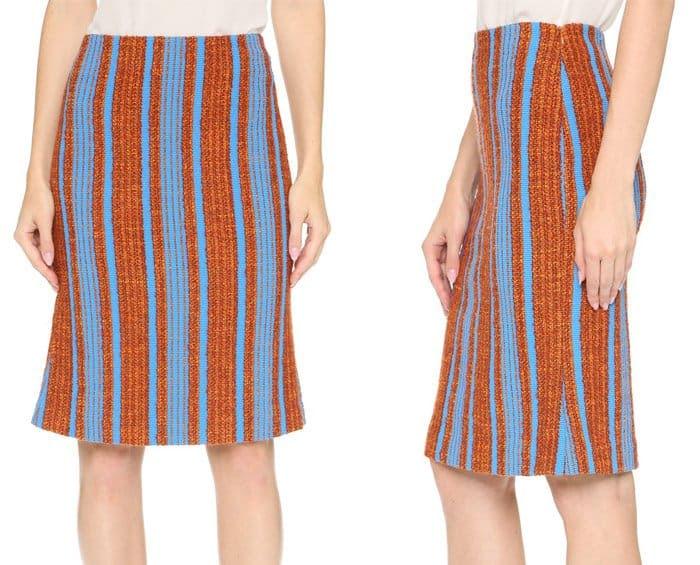 Thakoon Striped Boucle Skirt