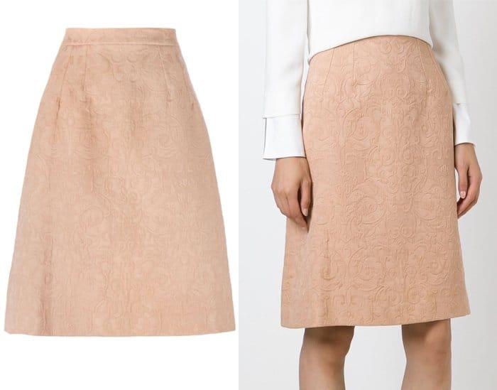 Dolce & Gabbana A Line Brocade Skirt