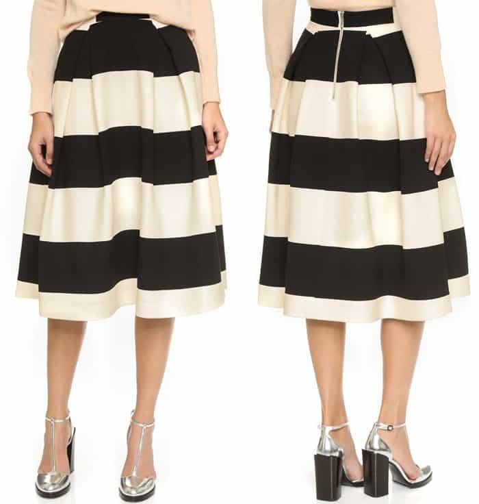 Nicholas N Nicholas Orchard Stripe Ball Skirt