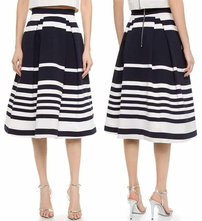 Nicholas Positano Stripe Ball Skirt