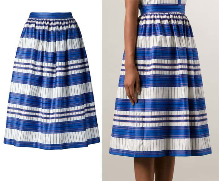 Novis Striped A line Skirt