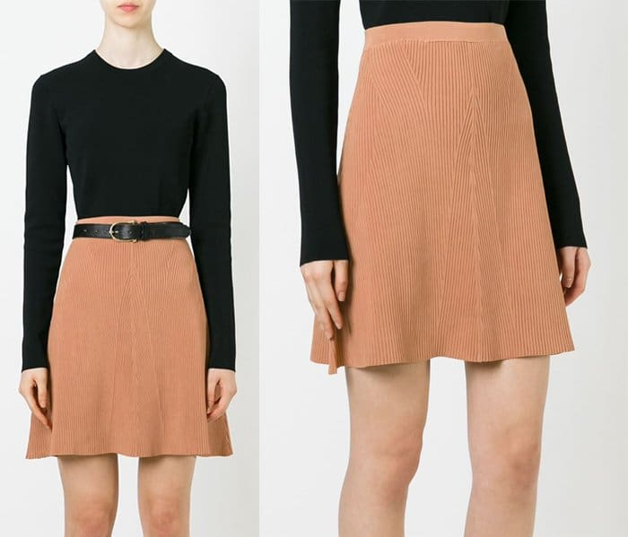 Sonia by Sonia Rykiel Ribbed A Line Skirt