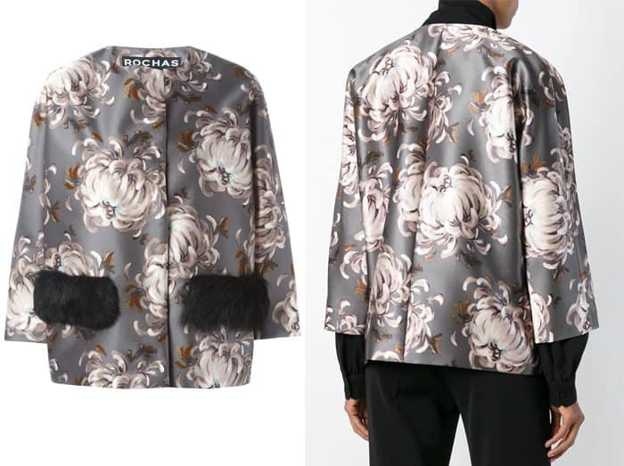 Rochas Floral Print Oversized Jacket