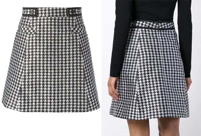 Viktor & Rolf Houndstooth Print A Line Skirt